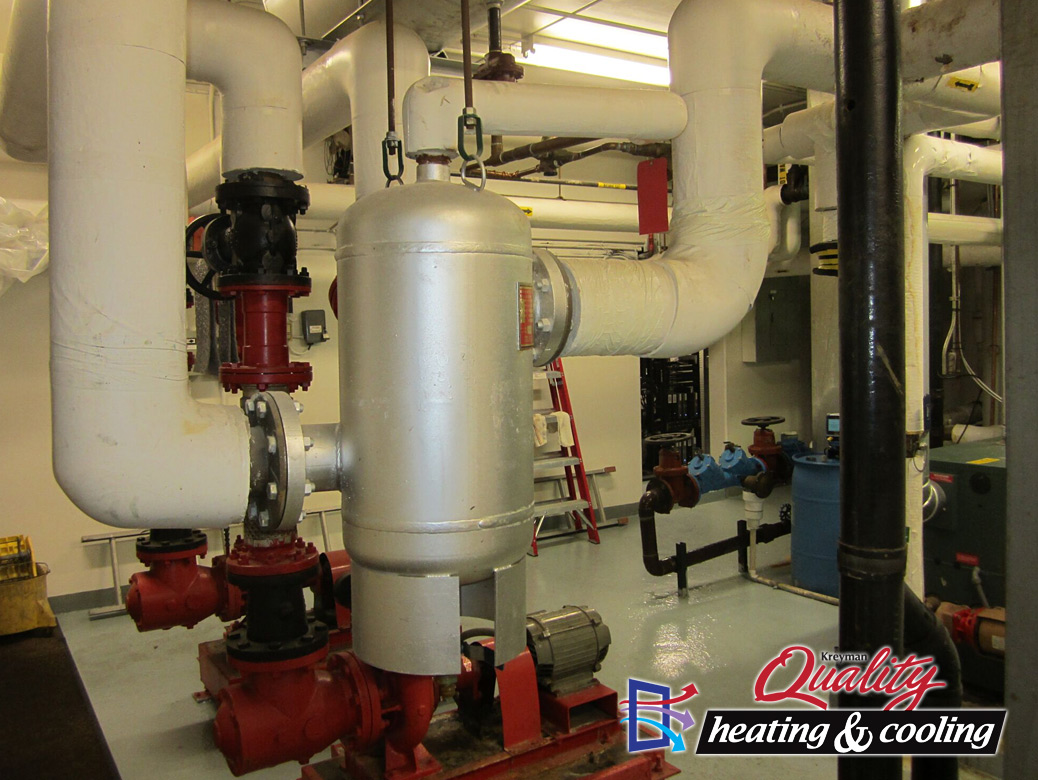 Commercial boiler pumps and expansion tanks